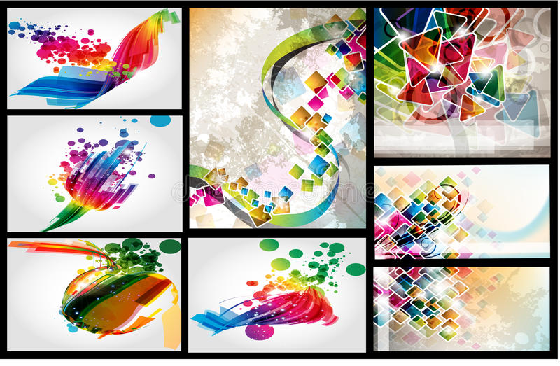 Download Layout colorful design set stock vector. Image of ornament - 25777269
