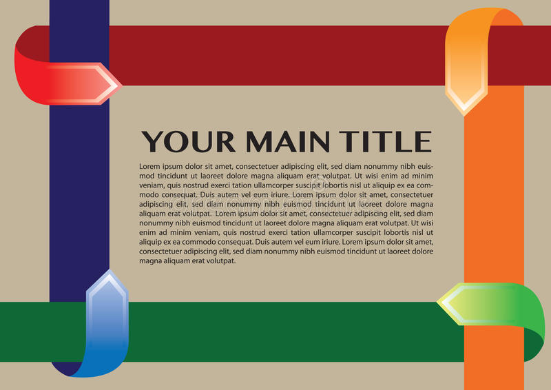 Layout design border with arrows vector illustration