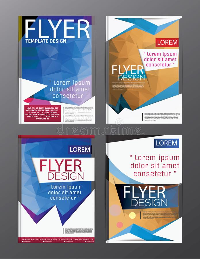 Layout design template Annual Report Flyer Leaflet Modern background. illustration vector polygon vector illustration