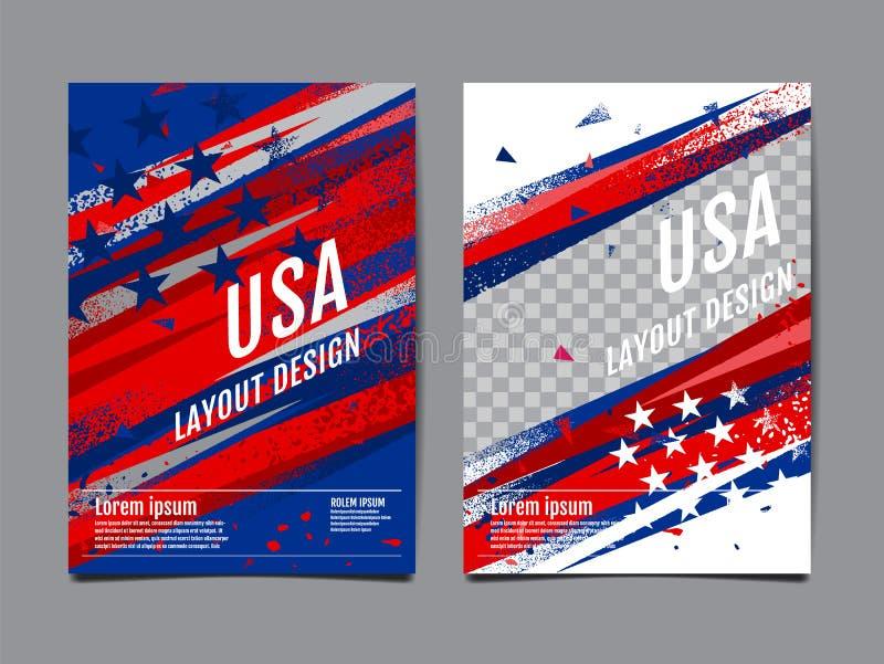 Layout Design USA флаг , Template Banner, Vector abstract grunge, Background бесплатная иллюстрация