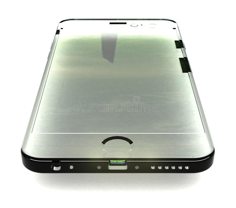 Layout glass phone royalty free stock photography