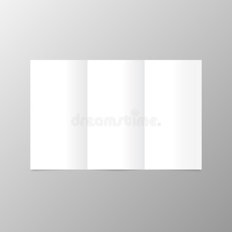 Layout postcard with open blank pages . royalty free illustration