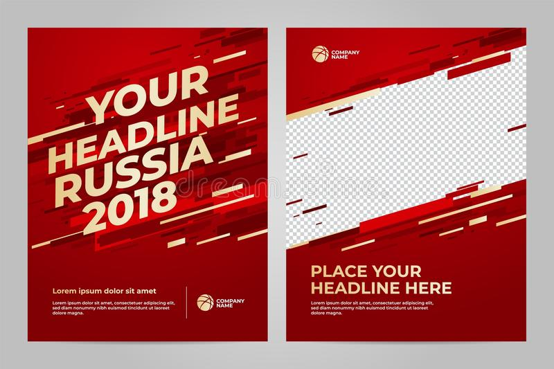 Layout Template design for sport. Layout Template design of the poster for sport event, 2018 trend