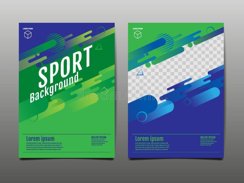 Layout template Design, Sport Background, Dynamic Poster, Banner, Vector Illustration. Sport background stock illustration