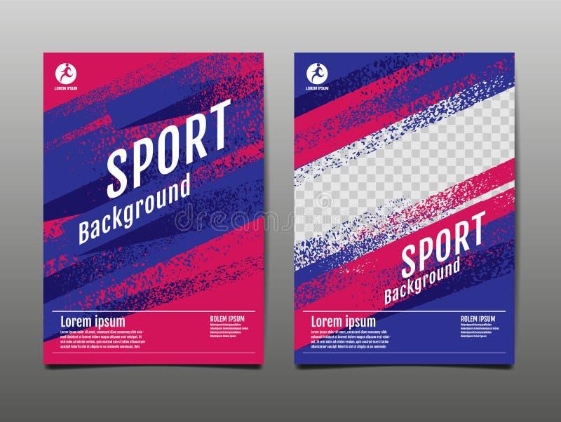 Layout template Design, Sport Background, Dynamic Poster, Brush Speed Banner, Vector Illustration. Layout template Design, Sport Background, Dynamic Poster stock illustration