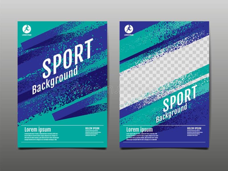 Layout template Design, Sport Background, Dynamic Poster, Brush Speed Banner, Vector Illustration stock illustration