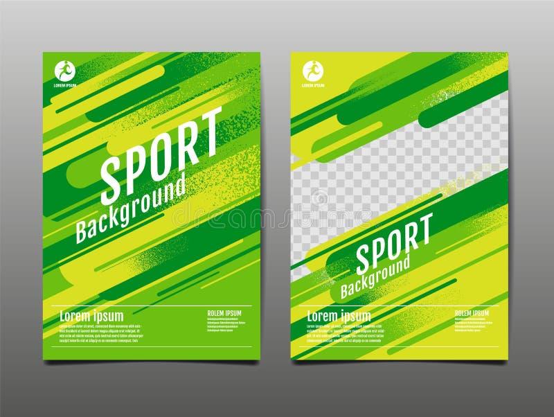 Layout template Design, Sport Background, Dynamic Poster, Brush Speed Banner, Vector Illustration royalty free illustration