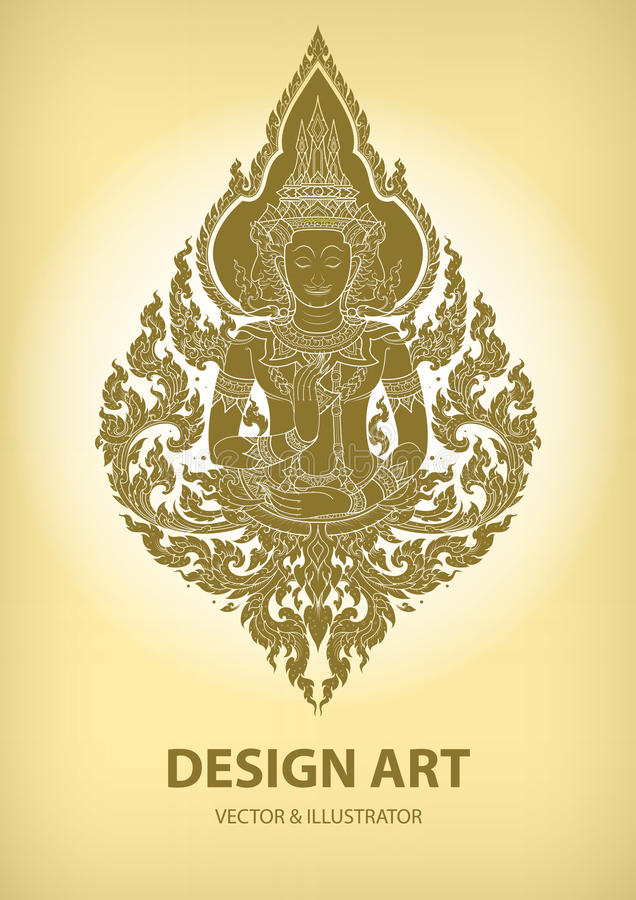 Layout thai outline pattern vector vector illustration