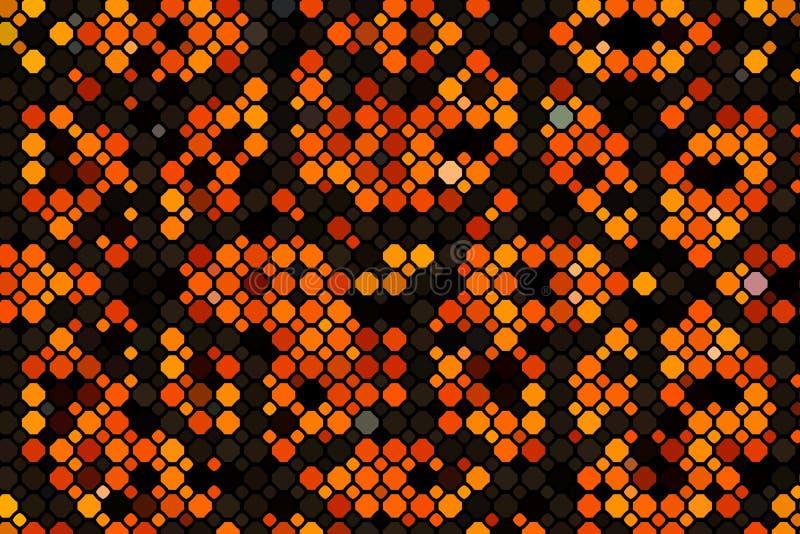 Layout vettoriale arancione scuro con forme cerchio Illustrazione con un insieme di cerchi astratti brillanti Modello per la bell royalty illustrazione gratis