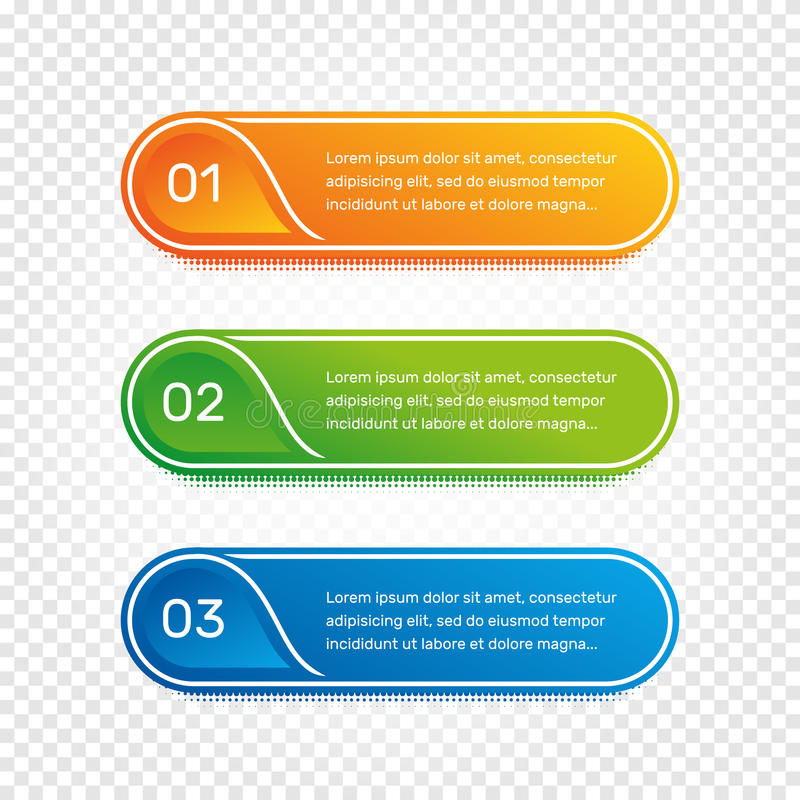Layout workflow. Outline colorful menu for app interface. Number options. Web design of buttons elements. Infographics 1. 2. 3. vector template. Text vector illustration