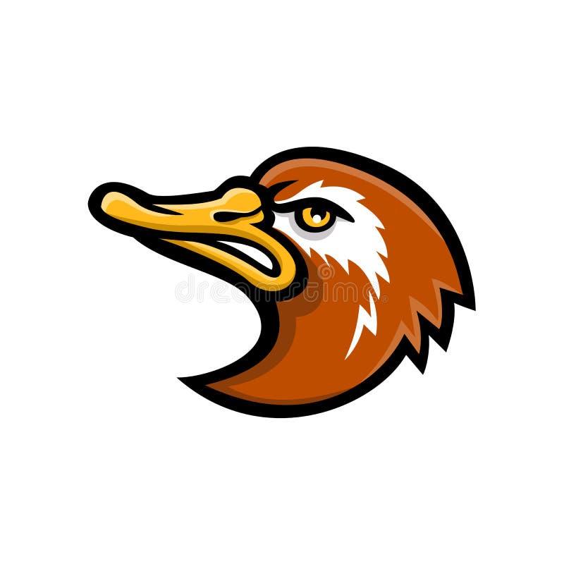 Laysan kaczki głowy maskotka royalty ilustracja