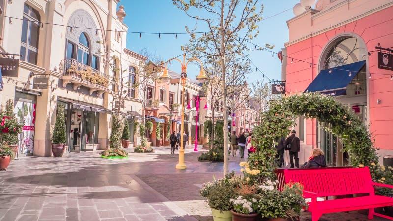 Armari luxury boutique at Laz Rozas shopping village near Madrid, Spain. Madrid / Spain - 03 30 2019: Armani luxury brand storefront located at Las Rozas village stock photo