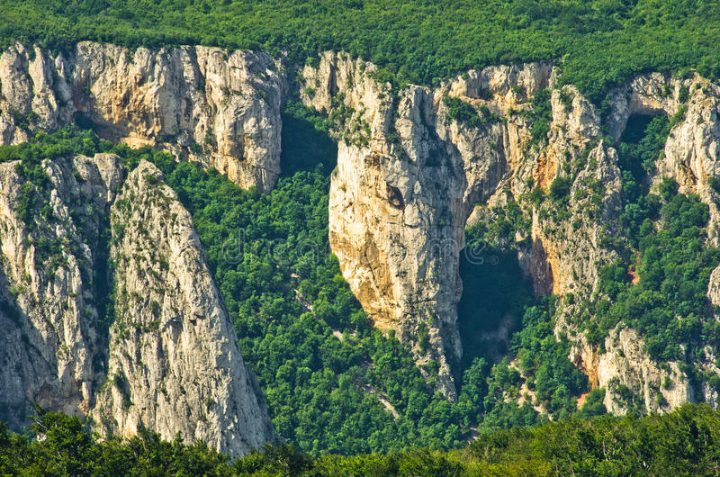 Lazar's gorge, one of the most inaccessible places in Serbia. Lazar's gorge, one of the most wild, dangerous and inaccessible places in Serbia royalty free stock photos