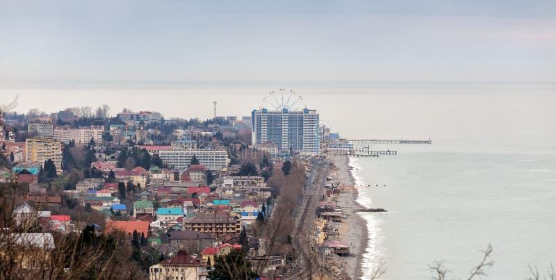 Lazarevskoye - toevluchtgebied in de stad van Sotchi Rusland stock afbeelding