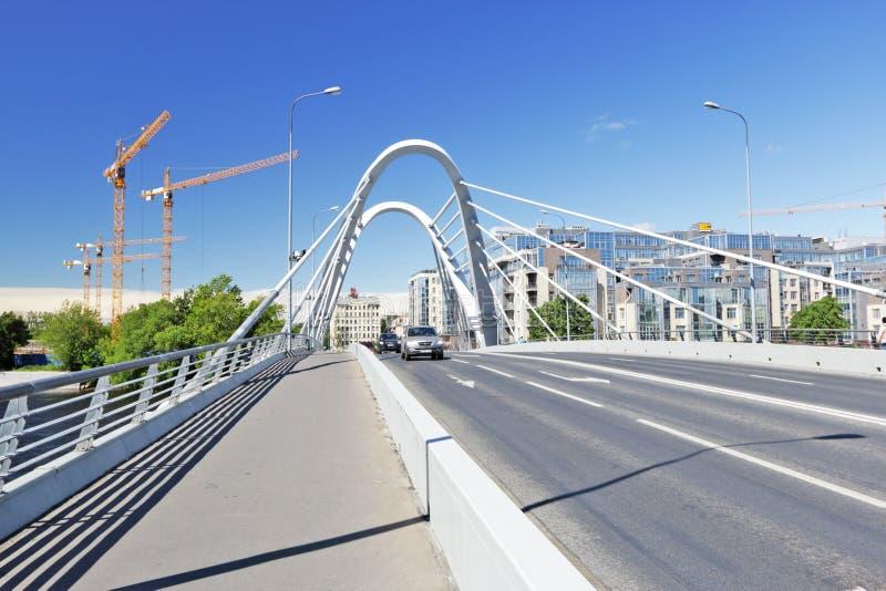 Lazarevsky bridge. St. Petersburg stock photo