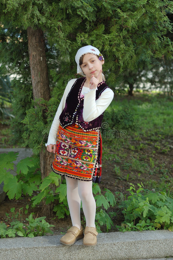 Lazarica Mädchen lizenzfreies stockbild