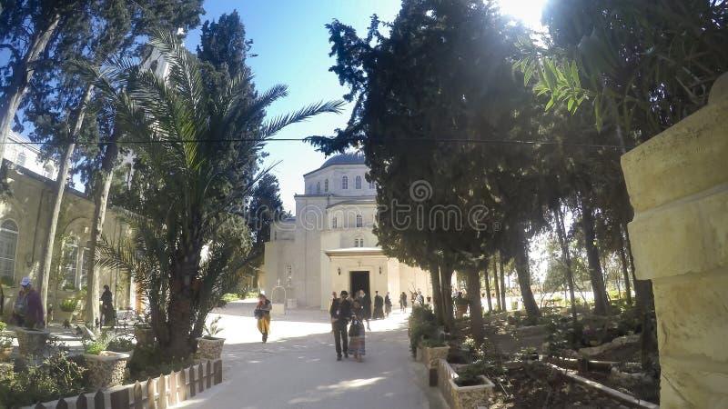 Lazarus Greek Orthodox Church en la ciudad de Bethany, Israel, Palestina fotografía de archivo