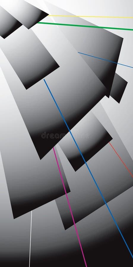 Lazer Abdeckstreifengrau stock abbildung