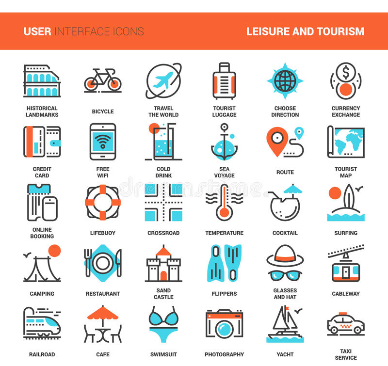 Lazer e turismo ilustração stock