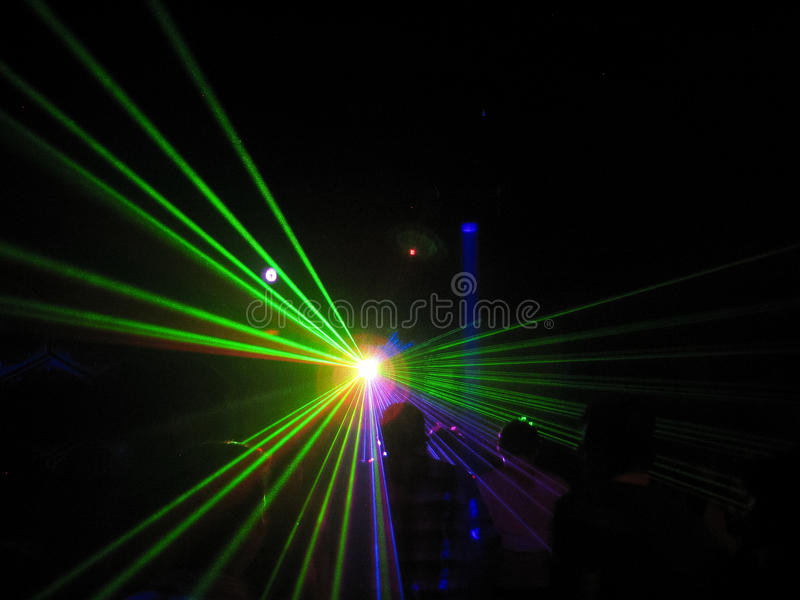 Lazers in a Club. Lazers in a Night club royalty free stock photography