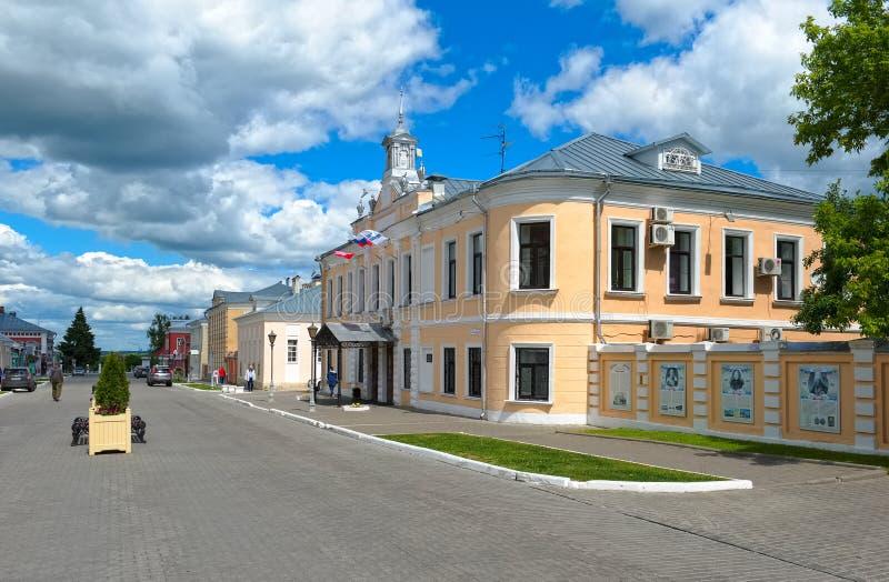 Lazhechnikova gata i Kolomna kremlin royaltyfri fotografi