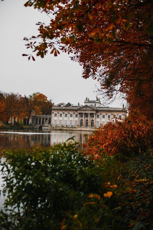 Lazienki公园华沙波兰 免版税库存照片