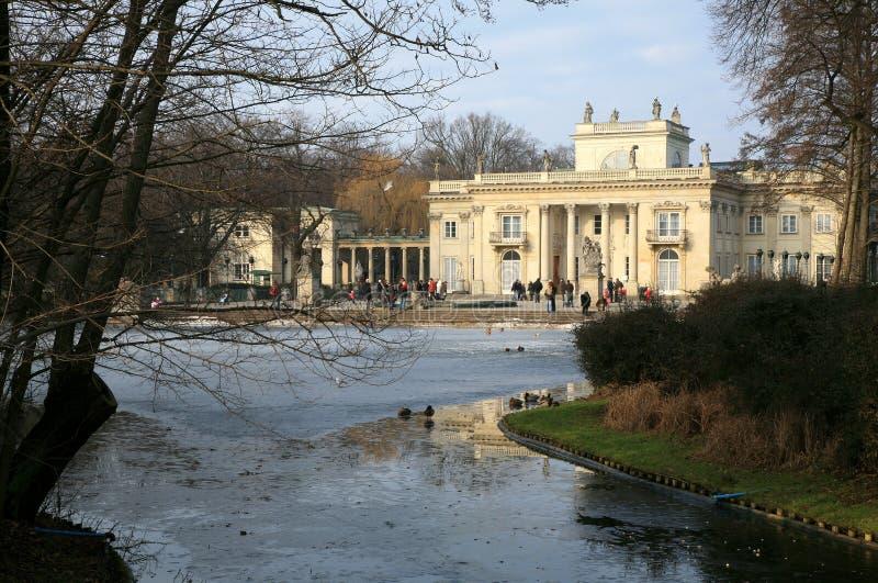 Lazienki â Palast auf Wasser. Warschau, Polen. lizenzfreies stockfoto