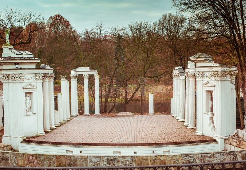 Lazienki Park stock image
