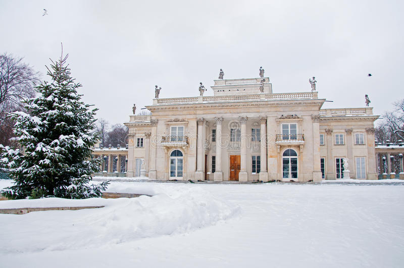 Lazienki Park in winter. Poland, Warsaw royalty free stock photography