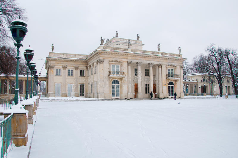 Lazienki Park in winter. Poland, Warsaw royalty free stock images