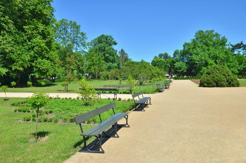 Lazienki Royal park in Warsaw stock photos