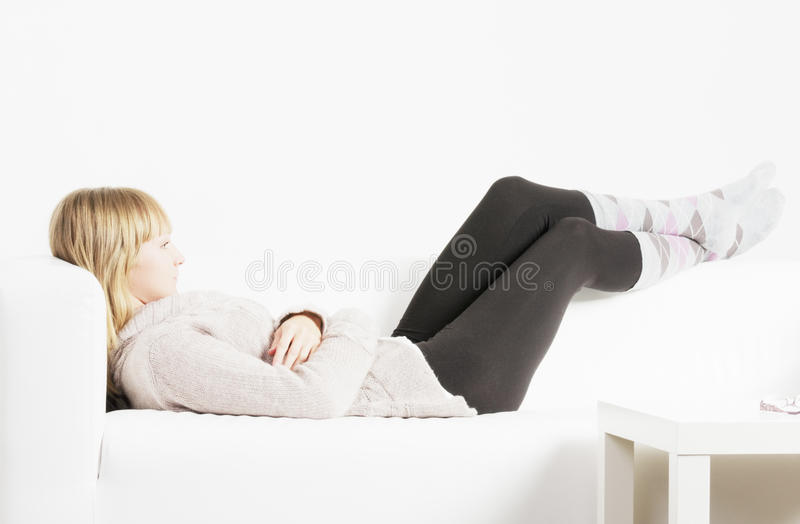 Download Laziness stock image. Image of lazy, person, down, woman - 16720637