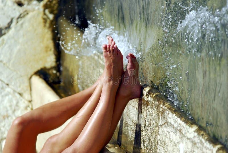 Lazing Door De Brug Rialto Royalty-vrije Stock Fotografie