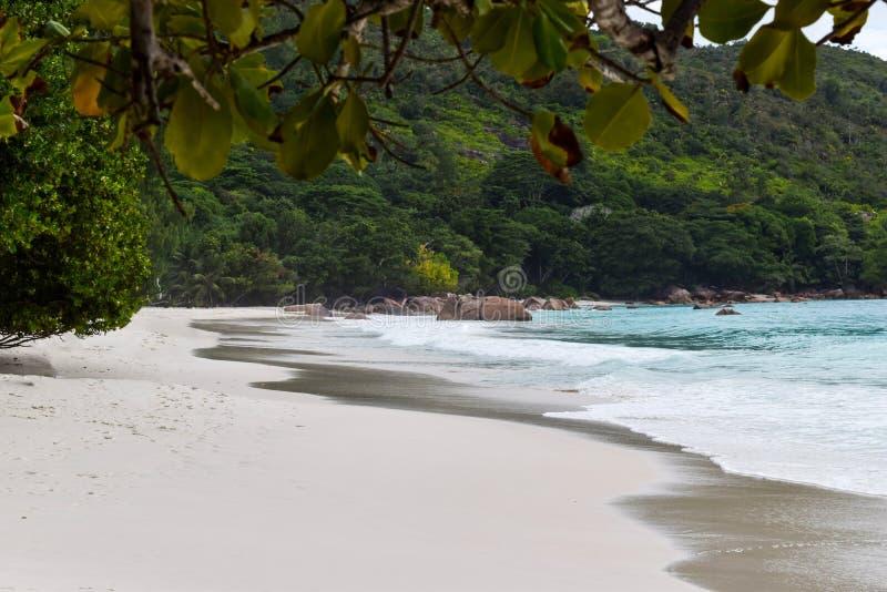 Lazio van Anse strand in Seychellen royalty-vrije stock afbeelding