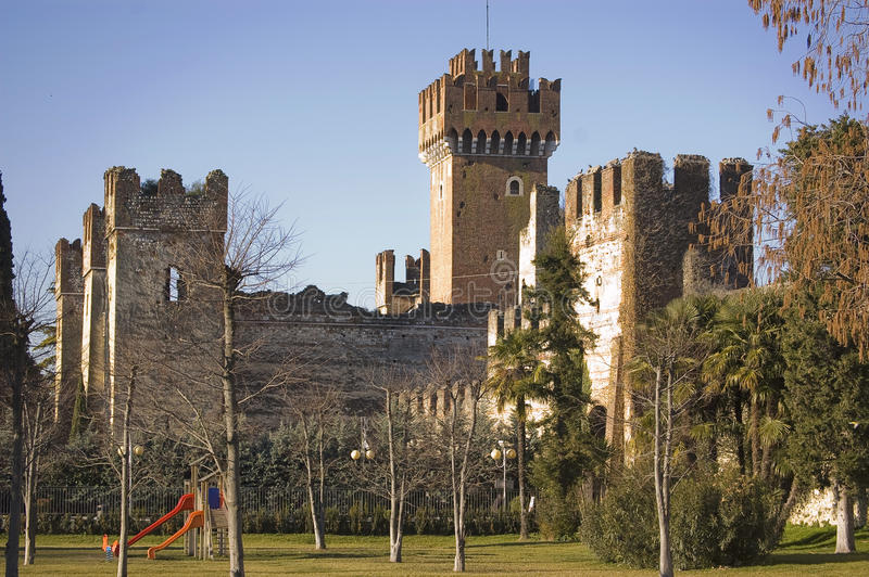 Lazise Castle. Castle in Lazise on the Garda's lake, italy royalty free stock photos