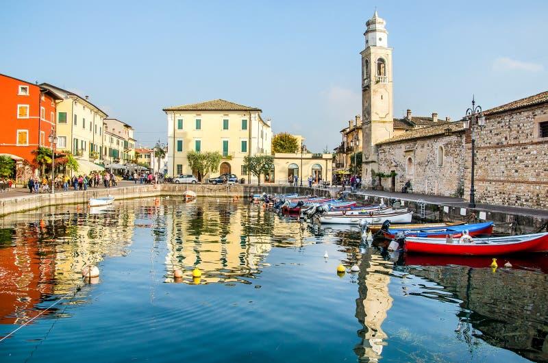 Lazise Lago Di Garda Verona Veneto Włochy fotografia royalty free