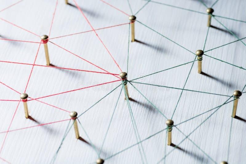 Lazo de entidades Red, establecimiento de una red, medio social, conectividad, extracto de la comunicación de Internet Web del hi fotos de archivo libres de regalías
