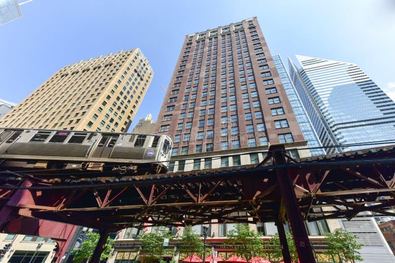 Lazo del subterráneo de Chicago CTA fotografía de archivo libre de regalías