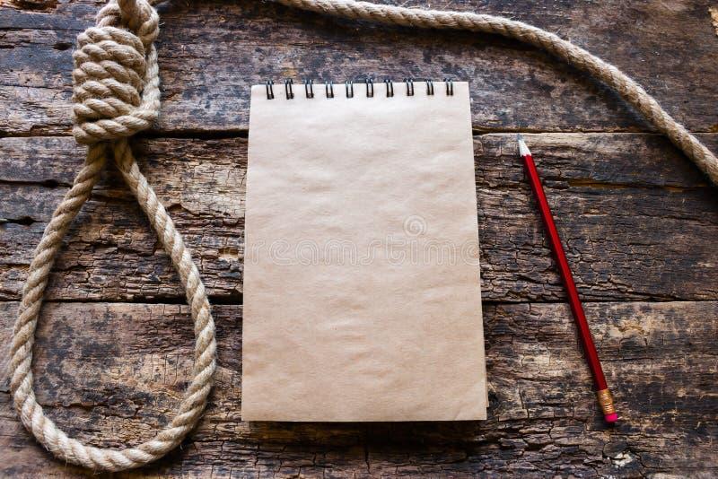 Lazo para el suicidio imágenes de archivo libres de regalías