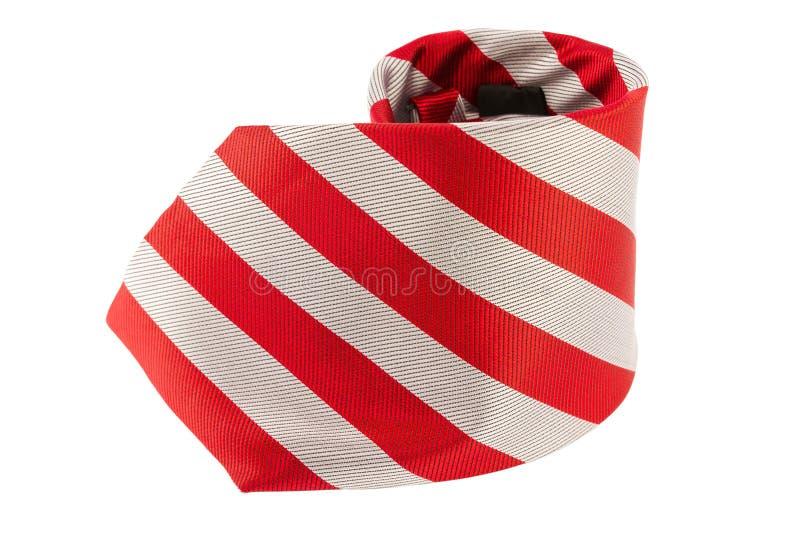 Lazo rojo del cuello en el fondo blanco imagen de archivo