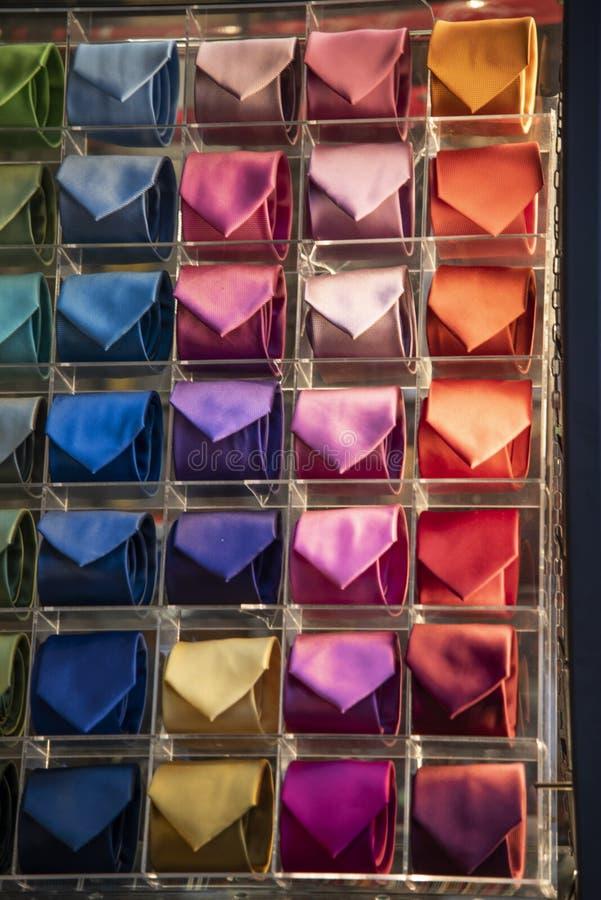 Lazos de colores para hombres imagenes de archivo