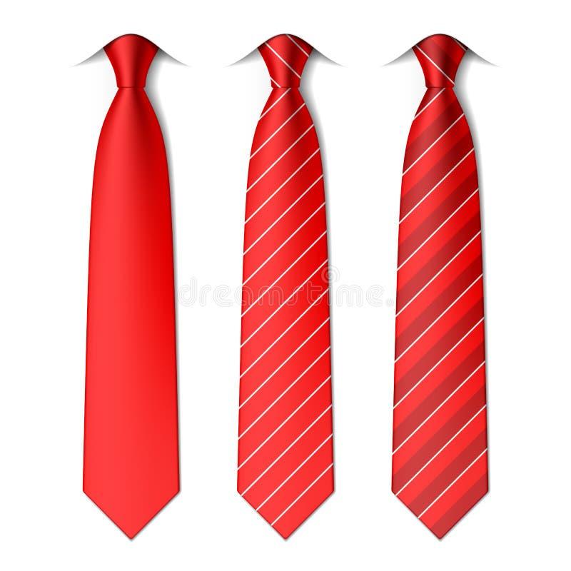 Lazos llanos y rayados rojos libre illustration