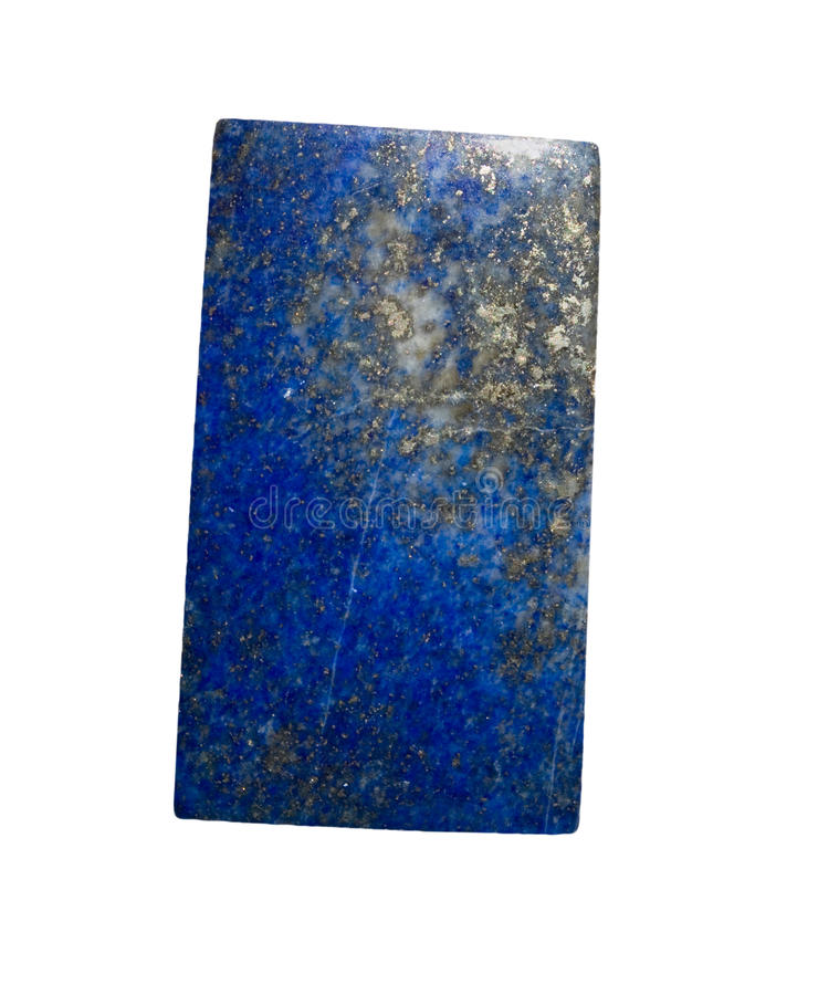 Lazuli di Lapis isolato immagine stock libera da diritti