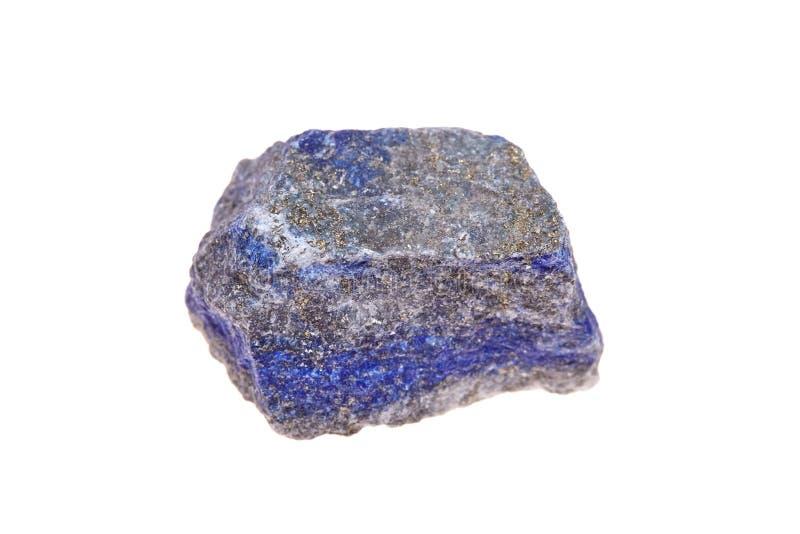 Lazulite de piedra, aislado en el fondo blanco, roca del lapislázuli fotos de archivo