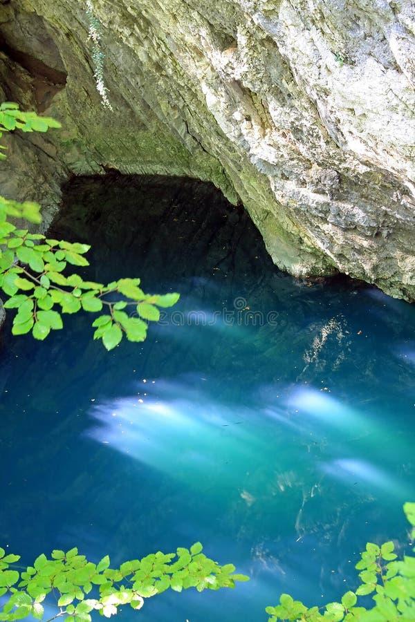 lazurowa jeziorna góra fotografia royalty free