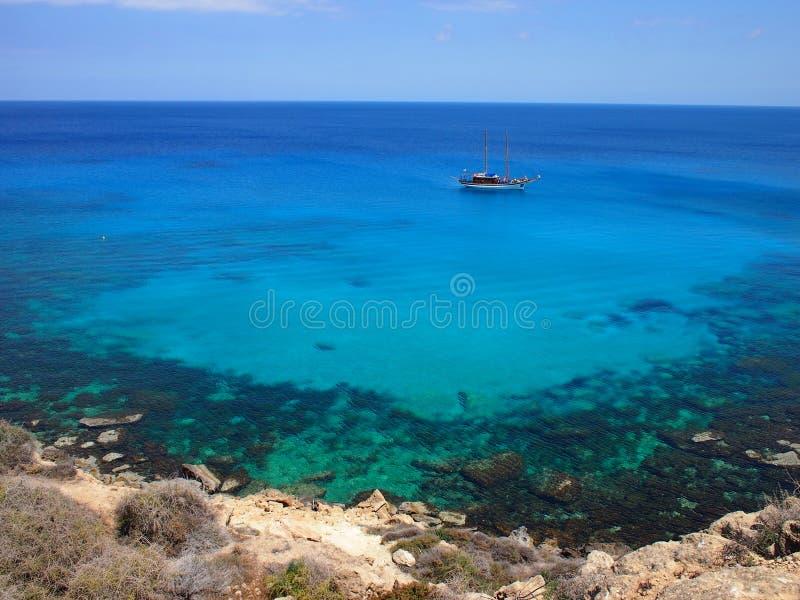 lazurowy morze zdjęcie royalty free