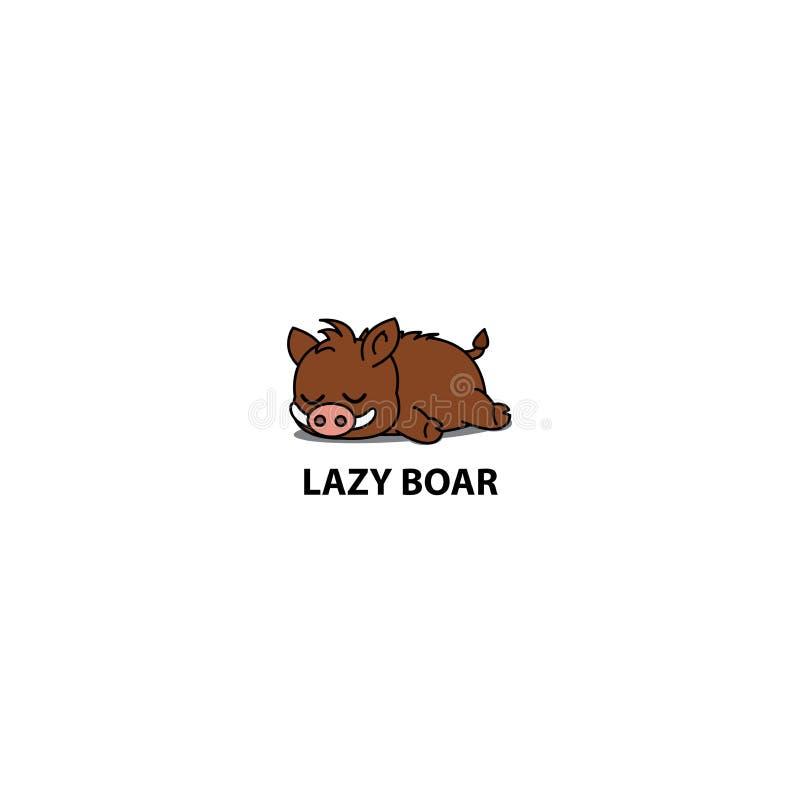 Lazy boar icon, logo design, vector. Illustration vector illustration