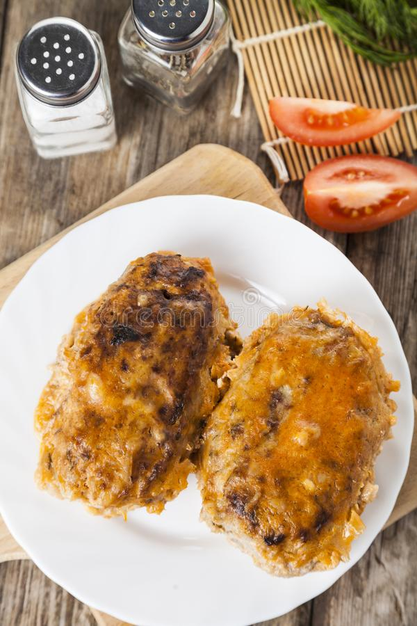 Lazy cabbage rolls stock images