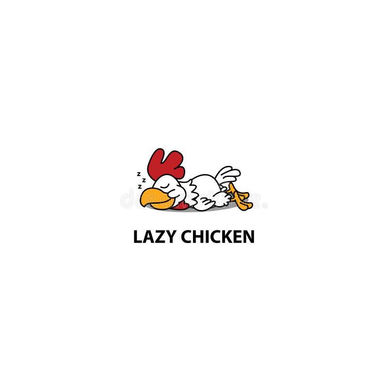 Lazy chicken sleeping icon, vector illustration. Lazy chicken sleeping icon, logo design, vector illustration vector illustration
