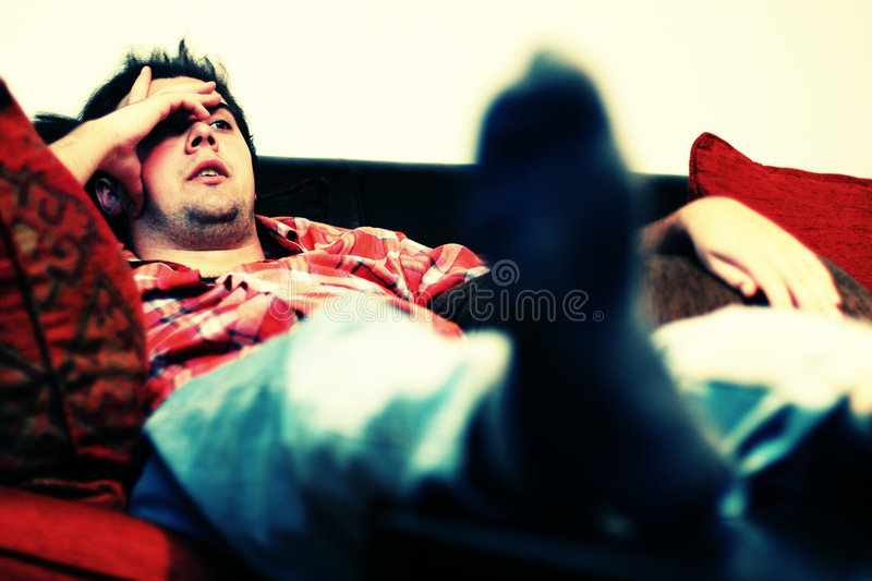 Lazy Chilling Out Man Royalty Free Stock Photography